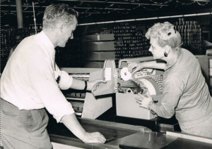 Ben Lipke and Donna Brown prepare for the Grand Opening of the Five Star store