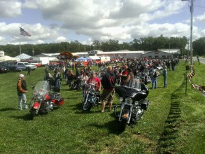 Motorcyclists gather for the ride