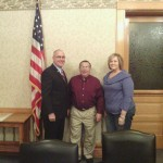 Pulaski County Commissioners Larry Brady, Vice President Terry Young, and President Tracey Shorter