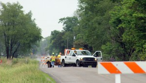 INDOT closed State Road 23 between Toto Road and Ober yesterday when a sinkhole developed. The Road reopened this morning.