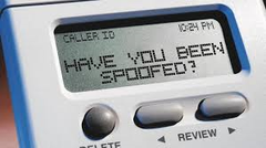 Call spoofing telephone scam