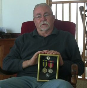 Joe Perch of Knox recently received the U.S. Navy service medals he earned 54 years ago.